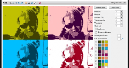 create pop art photos in Chrome c