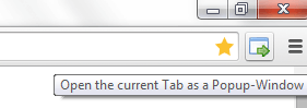 open current tab as popup