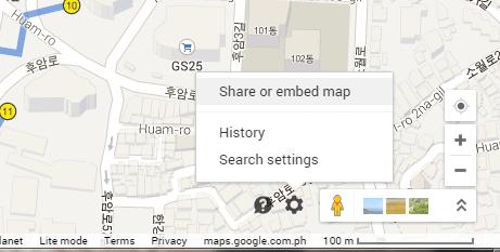 share Google Maps
