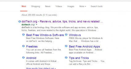 show favicons on Google Search Results