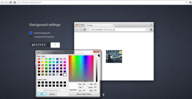 Image to Center Chrome