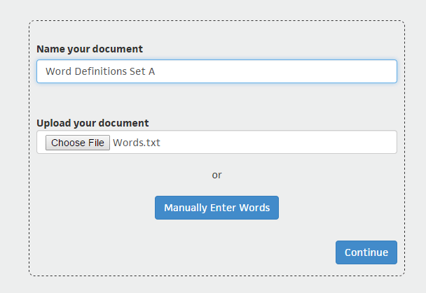 Vocabulist for Web c