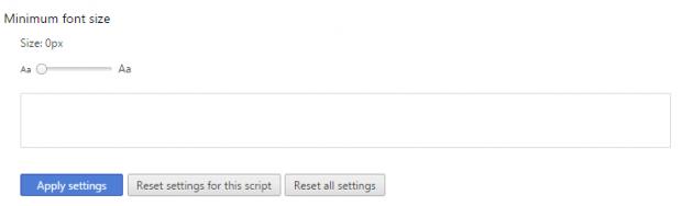 advanced font settings Chrome b