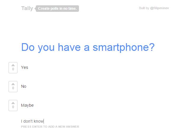 create a poll online b