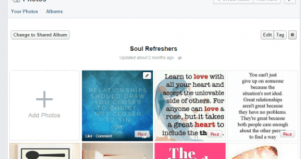 directly pin photos from FB to Pinterest