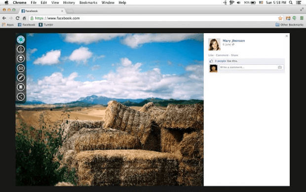 edit facebook photos in Chrome c