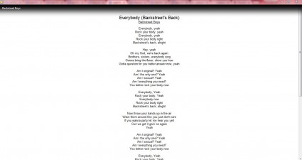 lyrics plug-in