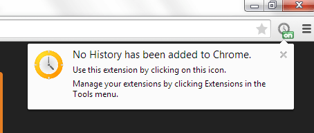 no history in Chrome