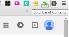 scrollbar of contents