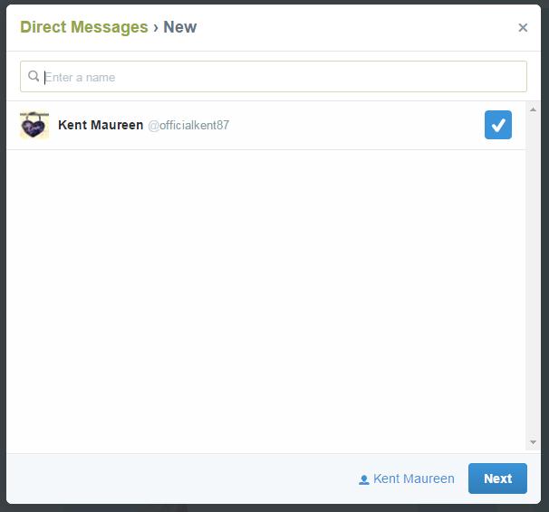share a tweet via DM Twitter c