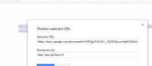 shorten URL links in Google Docs c