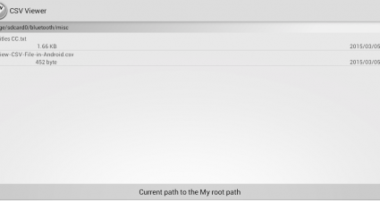 Open a CSV file in Android