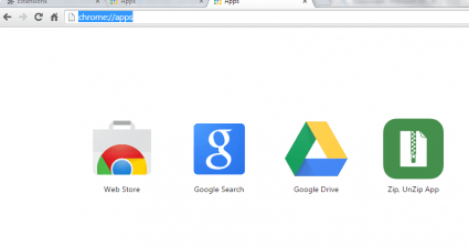 Show apps in new tab b