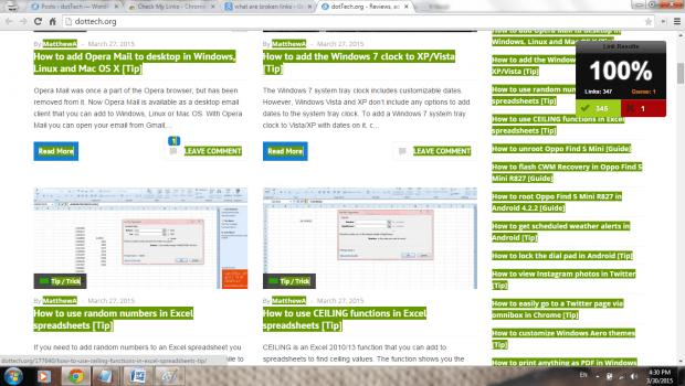 check for broken links in Chrome b