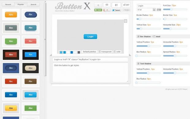 create web buttons in Chrome