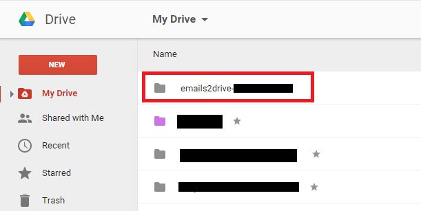 emails to Google Drive e