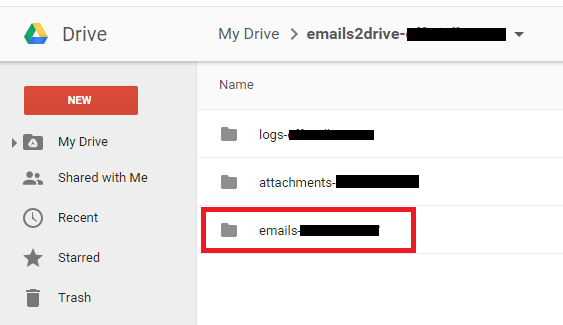 emails to Google Drive f