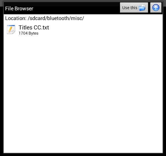 view TXT file in Android c