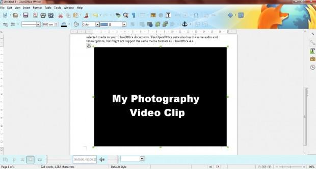 Libreoffice media player2