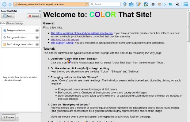 color that site