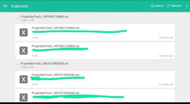 delete duplicates in Google Drive Dropbox Android c