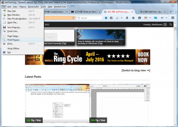 firefox menu icons