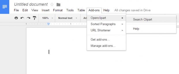 insert Clip Art in Google Docs b