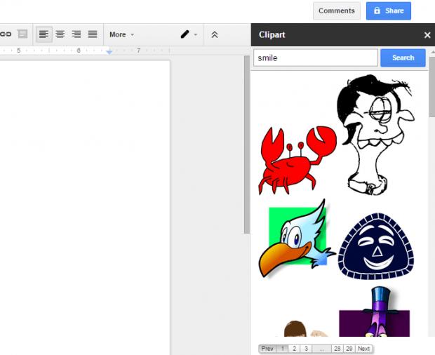 insert Clip Art in Google Docs c