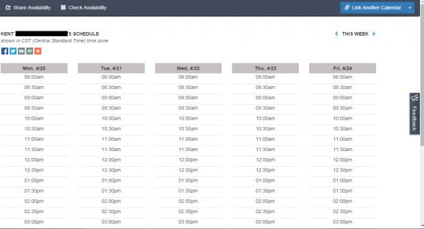 schedule meetings online c