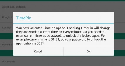 use time or date to lock apps Android c