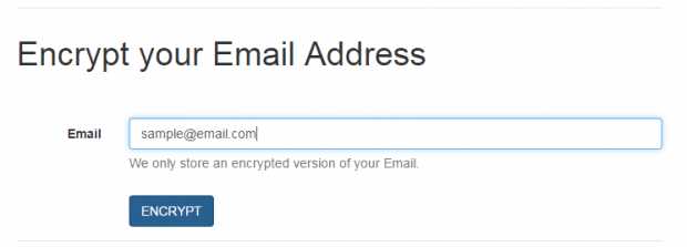 Encrypt email address Spamty