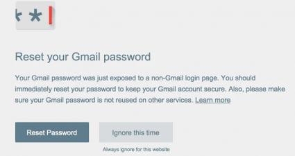 Password Alert Chrome