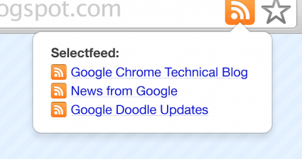 RSS subscribe button Chrome