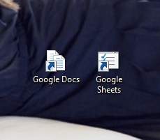 add Google Docs desktop shortcuts Windows g