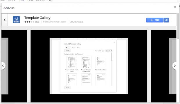 create resume Google Docs b