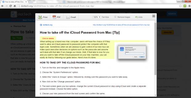 edit print save web page as PDF Chrome