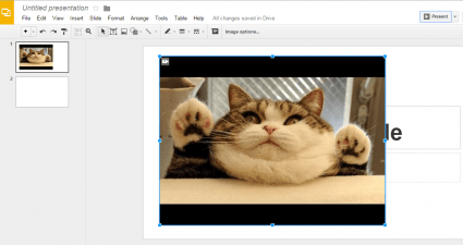 embed YouTube videos on Google Presentations c