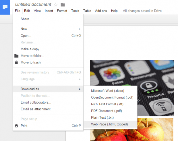 extract images from Google Docs d