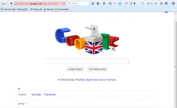 google page shortcuts