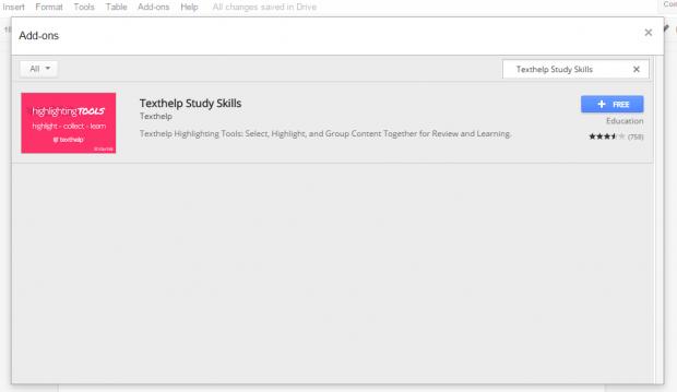 highlighting tool for Google Docs