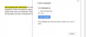 highlighting tool for Google Docs d
