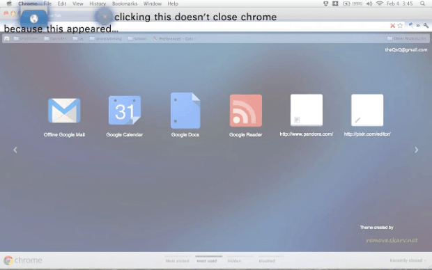 keep Chrome open when last tab is closed