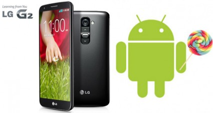 LG G2 Android 5.0 Lollipop