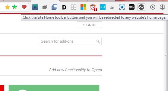 site home button