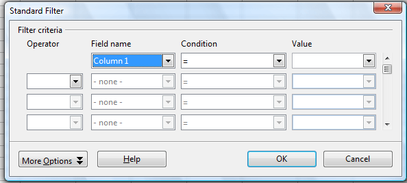 spreadsheet filter2
