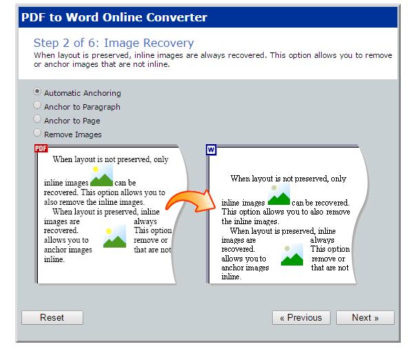 PDF to Word online b