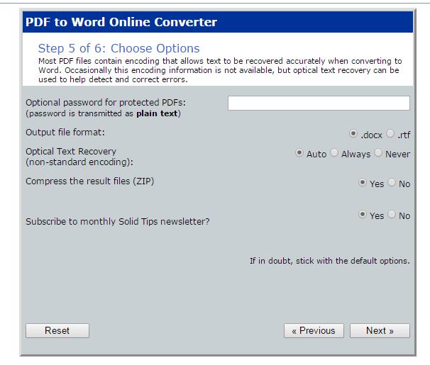 PDF to Word online e