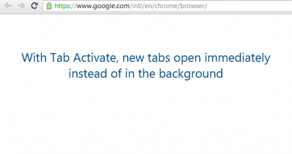 Tab Activate for Chrome