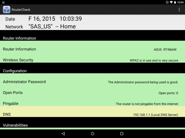 check home router Android c