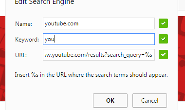 custom search engine Chrome b